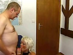 FRENCH MATURE 26 hairy mom milf and a old man