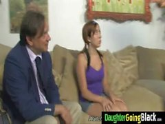 His Teen Daughter is Curious about a big black monster cock 15