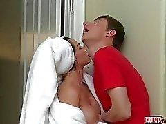 Stepmom Jenna seduces stepdaughters BF