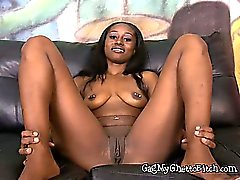 Lucky guy likes to watch coko get naked on the couch