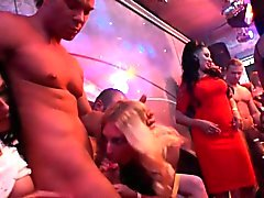 Glam euro amateurs sucking cock at party