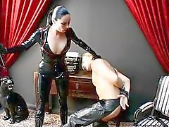 Dominatrix Zara is fucking around with and abusing her poor slave