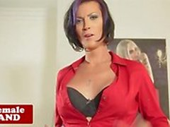 Solo mature tranny stroking her hard rod