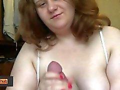 BBW Tanya Mellow handjob