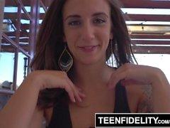 TEENFIDELITY Layla London Real Life Creampie