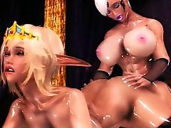Hentai 3d shemale gets tittyfucked by blonde elf girl
