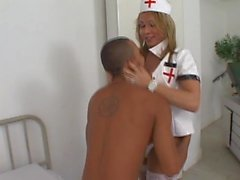 Tight ass for sex hungered TS nurse