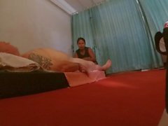 20 USD Real Thai Massage and blowjob with sperm swollow