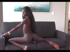 Black shemale on the couch