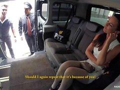 FuckedInTraffic - Brunette slut Alicia Wild giving BJ to her driver