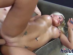 Sexy Katie has her tasty pussy pumped