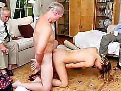 Hot babe Molly Mae pounded hard in group sex