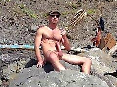 гей любительский пляж оральный геи