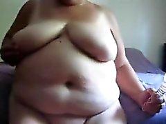 amateur bbw fett oma masturbation
