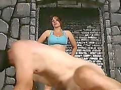 Extreme mature dominatrix bizarre cock and balls kicking