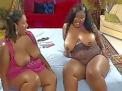 Lesbian bbws playing with their fat cunts
