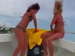 Nicole grey and ashley jensen fuck one lucky dude on a boat