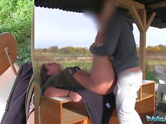 Public Agent Sexy student Vany Ully creampied outdoors