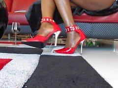 Black Goddess Desire ebony perfect feet JOI no cum