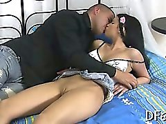Amazing virgin cum-hole stretched