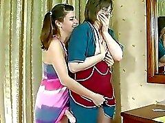 lezbiyen anneler ve gençler strapon