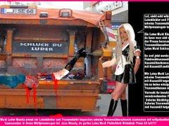 Latex Maid Luder - Scheiss Transvestitenschweine totpressen und verbrennen