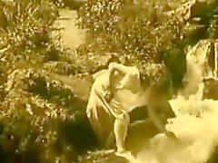 Vintage Erotic Movie 7 - Nude Girl at Waterfall 1920
