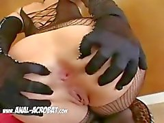 lesbians with sexy lingerie fisting anus
