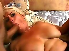 Beautiful Blonde Granny In A Threesome