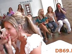 Group wild oral sex at club