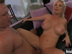 big boobs blondine blowjob abspritzen