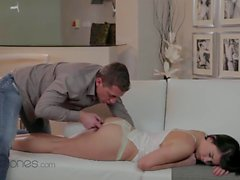 pussy eating to a sleeping cute girl intense fuck and hot orgasms