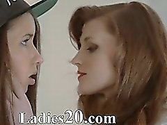Redhear lesbian lover banged hard