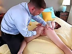 Leigh Gets Disciplined Hard By Her Stepdad