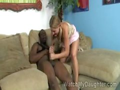 Pigtailed sweety Avy Scott takes a massive black schlong