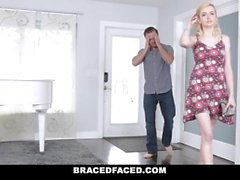 BraceFaced - Braces Teen Fucked Hard On First Date
