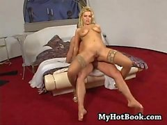 The voluptuous blonde playmate Pamela Blue will