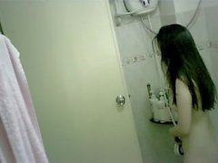 Tiny Chinese Teen Bathing Spy-cam