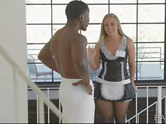 French maid AJ Applegate pounded good by her maste