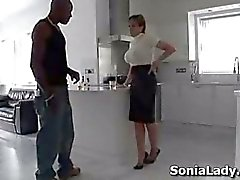 Sonia and a big black cock