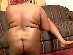 Bbbw busty readhead slut rammed into her ass and she is crying