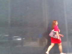 Jiggle Booty Latina Red Dress