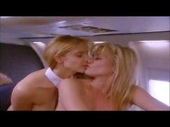 lesbiennes avion manger la chatte