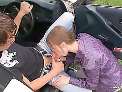 20yo russian girl fucked on the car