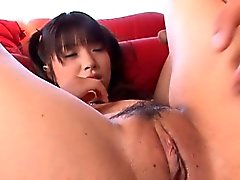 Dude gives moist cunnilingus before fucking busty asian