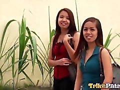 Horny Filipina Aiza is pimped out for sex by her best friend