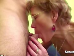 Grandma Caught Grand Son Watch Porn and Help with Fuck