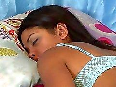 lésbica lingerie adormecido