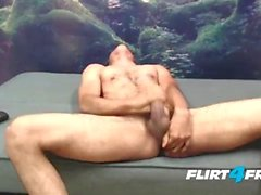 Josh Fanty on Flirt4Free Guys - Hunk Fingers Tight Ass & Strokes Thick Cock