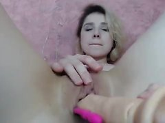 Toying weet pussy and squirting on webcam